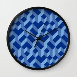 Blue Fresh Pattern Wall Clock
