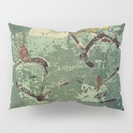 Urban Abstract in Green Pillow Sham