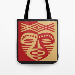 African Tribal Mask No. 3 Tote Bag