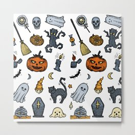Halloween Party  Color Metal Print