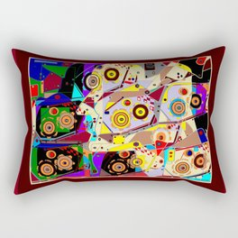 A Steampunk Automaton Gears and Cogs Rectangular Pillow