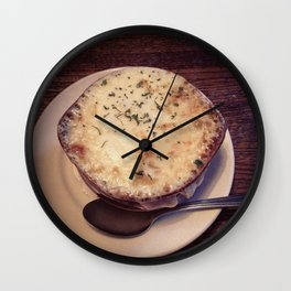 French Onion Soup Wall Clock