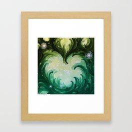 Green Heart Framed Art Print