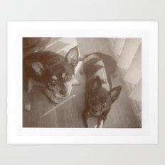 Charlie & Lucie Art Print