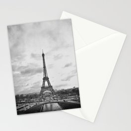 Black & White Eiffel Tower Stationery Cards