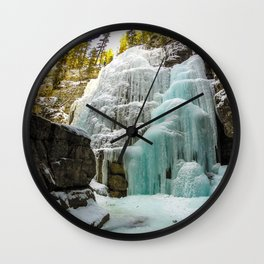 Angel Falls in Maligne Canyon, Canada Wall Clock