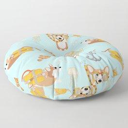 Majesty Pembroke - Happy Diving Corgis Floor Pillow