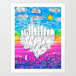 Philadelphia, City of Brotherly Love Art Print