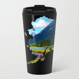 Alaska Outline - God's Country Travel Mug
