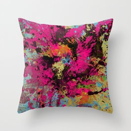 Express Yourself IV - Abstract, oil painting Throw Pillow