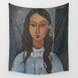 Alice by Amedeo Modigliani Wall Tapestry