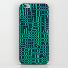 Turquoise Crosshatch iPhone Skin