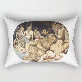 Le bain turc (after Ingres) Rectangular Pillow