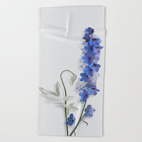 Consolida, watercolors Beach Towel