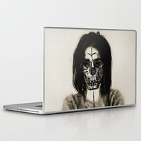 bjork Laptop & iPad Skins featuring Bjork skull by Sincere