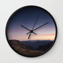 Pirin at dusk Wall Clock
