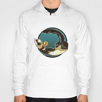 ferret Hoodies featuring Ferret by Ana del Valle Store