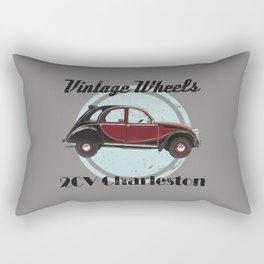 Vintage Wheels - 2CV Charleston Rectangular Pillow