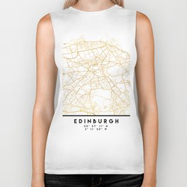 EDINBURGH SCOTLAND CITY STREET MAP ART Biker Tank