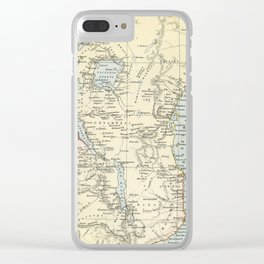 East Africa Vintage Map Clear iPhone Case