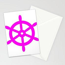 Ship Wheel (Magenta & White) Stationery Cards