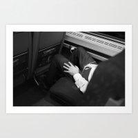 Asleep on the Train Art Print