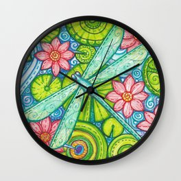 Dragonfly By Wall Clock