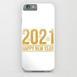 2021 Happy New Year iPhone Case