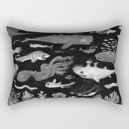 Dangers of the Deep Unknown Rectangular Pillow