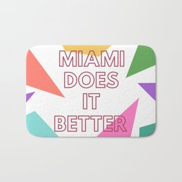 Miami Does it Better - 90s Geometric Design Bath Mat