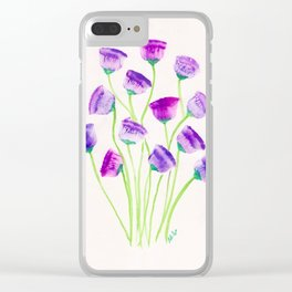 Flowers Forever - Purple and Green Clear iPhone Case