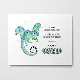 Awesome Dragon (light) Metal Print