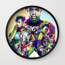 Blak Panther Series In Pop Art Wall Clock