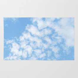 Summer Sky with fluffy clouds Rug