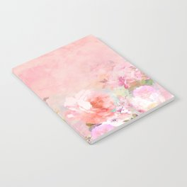 Modern blush watercolor ombre floral watercolor pattern Notebook