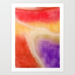 Lights in Soft Pastels Art Print