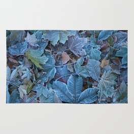 Frosted leaves Rug