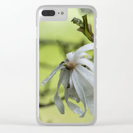 Star Magnolia Soaked Clear iPhone Case