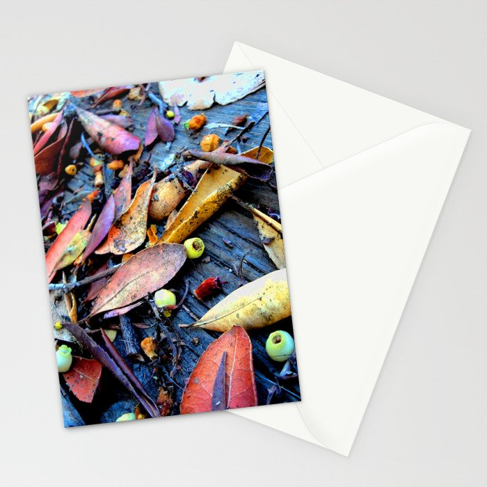 Leaves of a Strawberry Tree Stationery Cards
