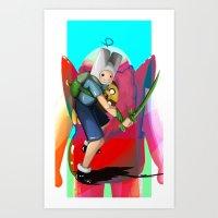 finn and jake Art Prints featuring Finn & Jake by Joshua M. Rhodes III