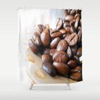 coffee Shower Curtains featuring Coffee by Vitta