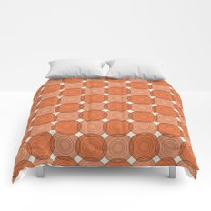 Red & Orange Circles Comforters