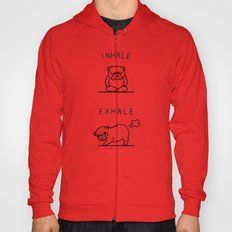 Inhale Exhale English Bulldog Hoody