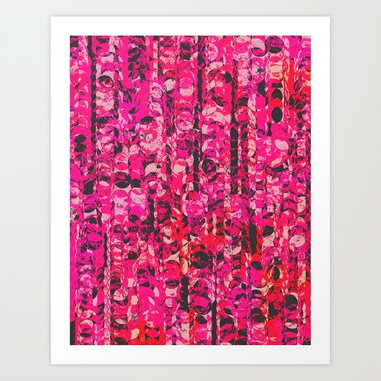 Pink & Red Art Print