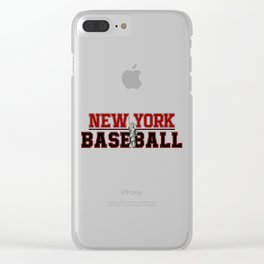 Baseball In New York Clear iPhone Case