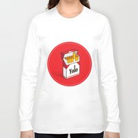 cigarettes Long Sleeve T-shirts featuring YOLO Cigarettes  by RJ Artworks