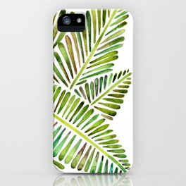 Tropical Banana Leaves – Green Palette iPhone Case