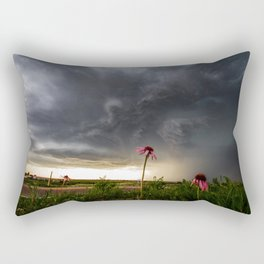 Stay Strong - Flowers Brace for Incoming Storm Rectangular Pillow