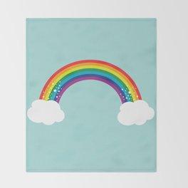 Sparkly Rainbow Throw Blanket