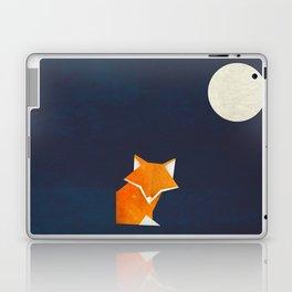 Origami Fox and Moon Laptop & iPad Skin